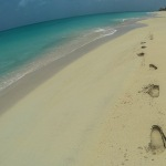 Hiking on the Beach the West Coast of Barbuda