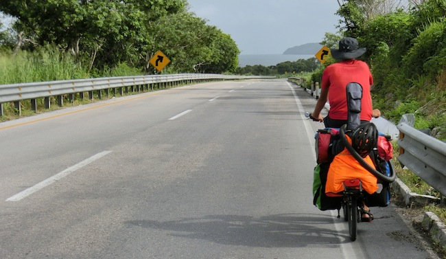 how to carry guitar while bicycle touring