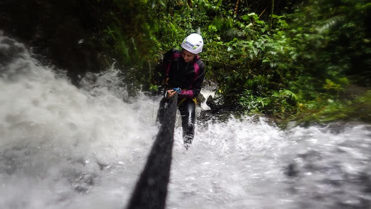 Canyoning Rappel 3 (1 of 1)