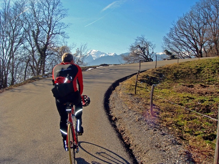 French Alps cycling