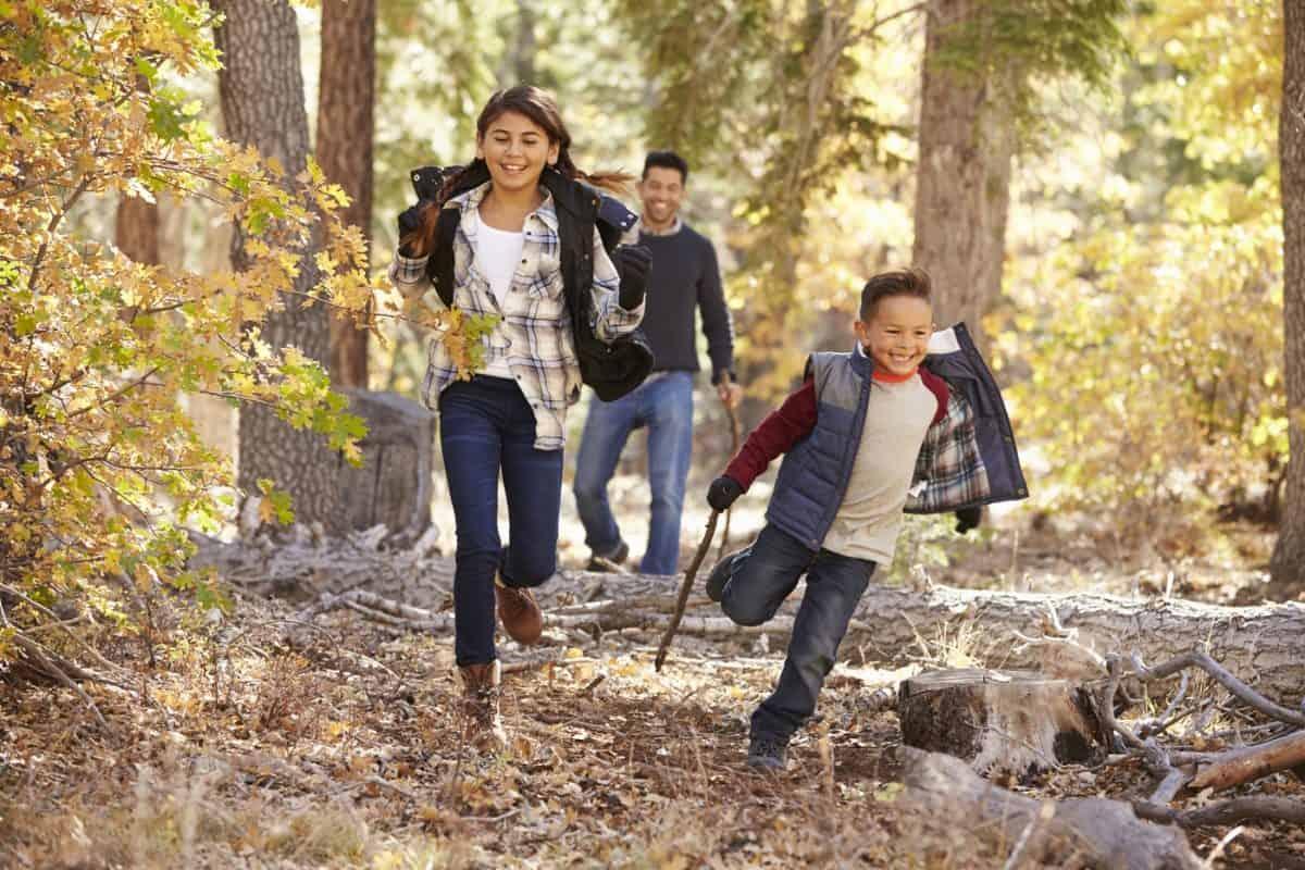hiking with kids