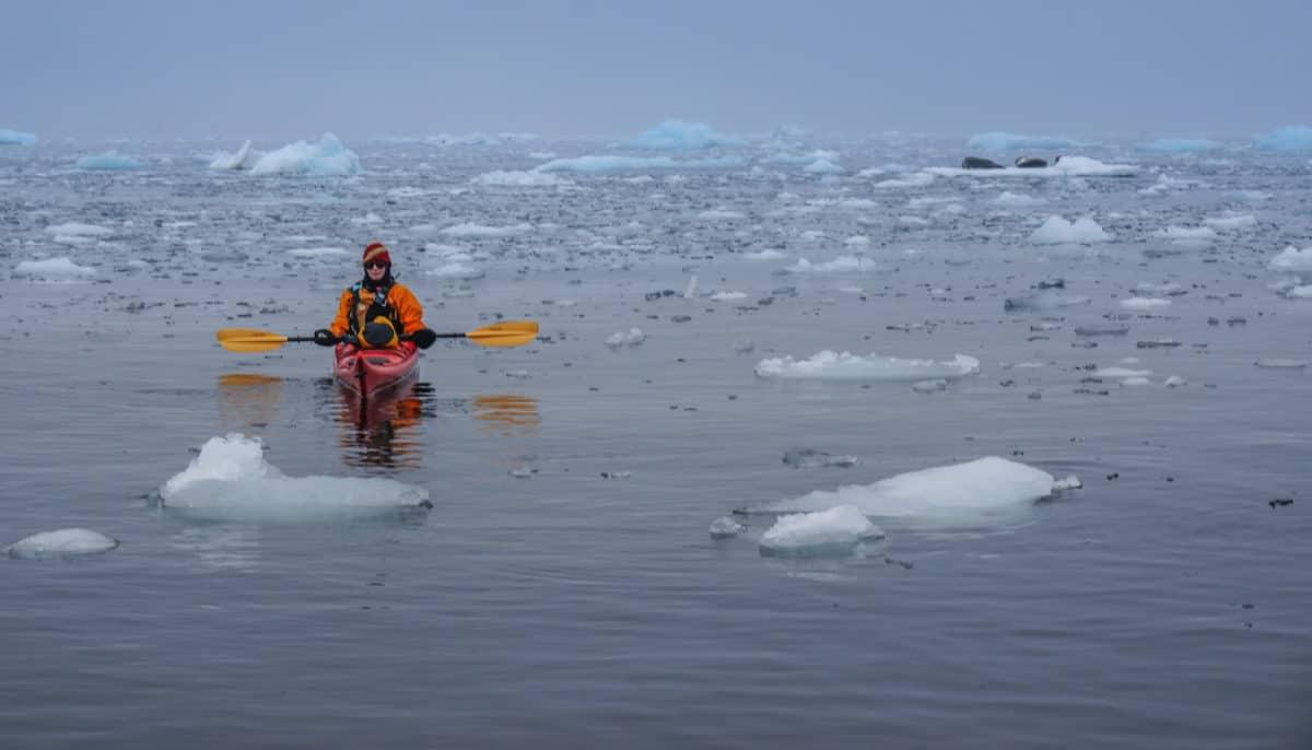 kayaking in Antarctica