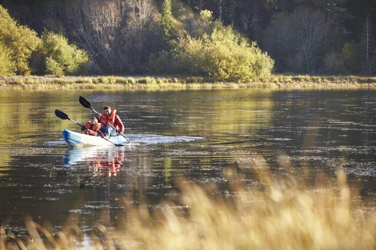 kayak experience with kids