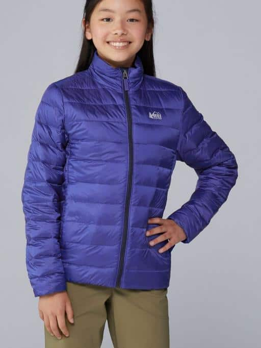 Spring/&Gege Boys Lightweight Packable Hooded Puffer Down Jacket Unisex Kids Warm Outdoor Windproof Outerwear Coat Size 3-4 Years Navy Blue//Orange