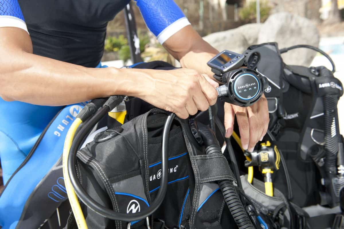 scuba gear maintenance and storage