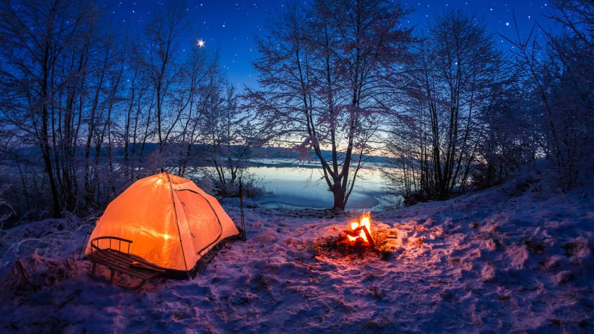 tips for camping in the snow