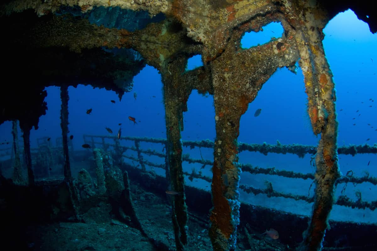 Wreck diving in Sardinia - Italy