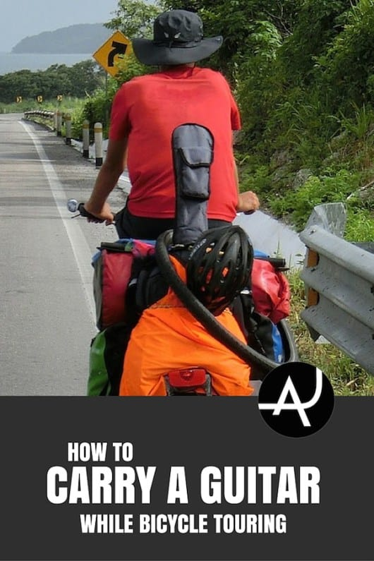 How to carry a Guitar While Bicycle Touring – Bike Touring Tips for Beginners – Best Bicycle Touring Gear and Accessories - Articles and Posts About Bike Touring