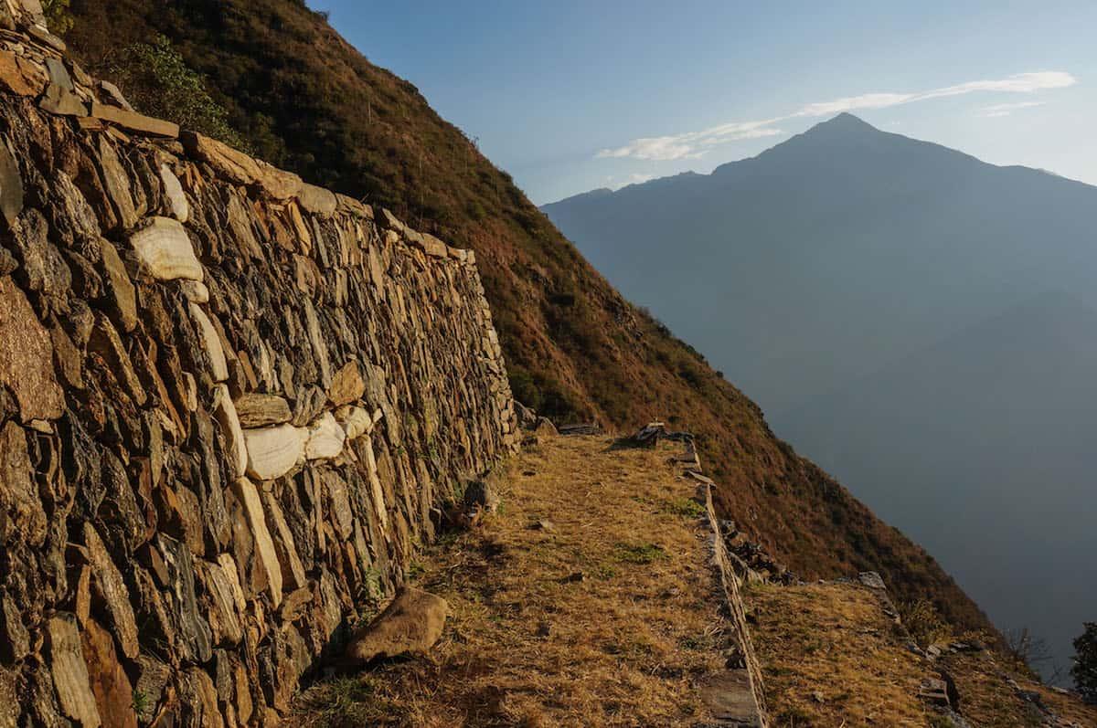 Llamas terraces in Choquequirao