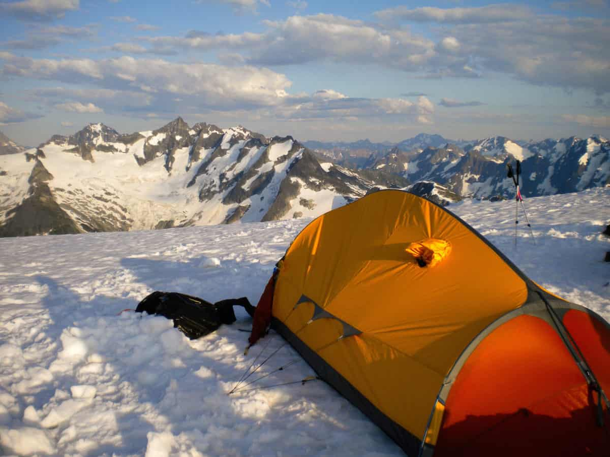 tips on staying warm in a tent
