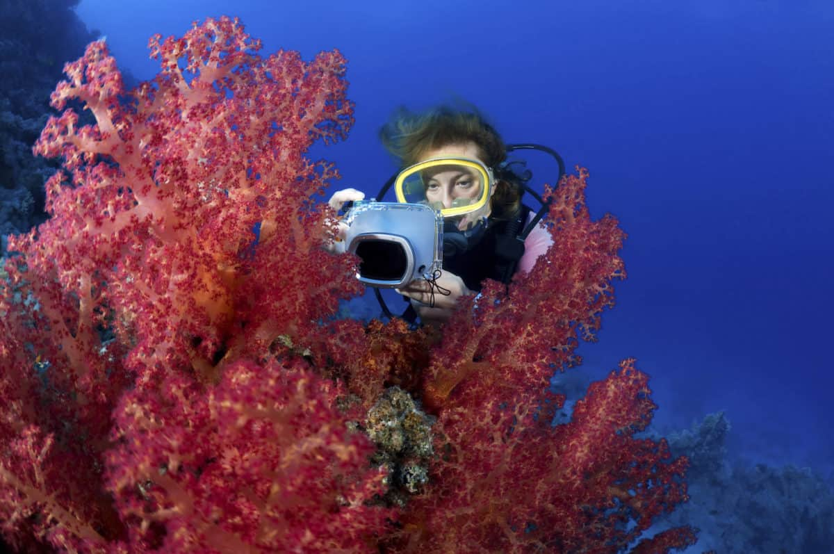 how to take pictures underwater
