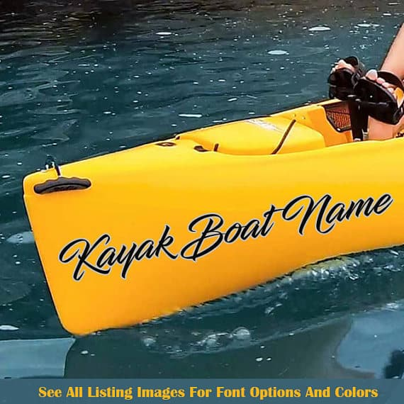 KAYAK BOAT NAME STICKER