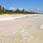 Hiking on the Beach to Punta Allen, Mexico.
